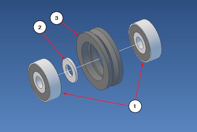 V wheel assembly - Geomagic Design Elements 2014