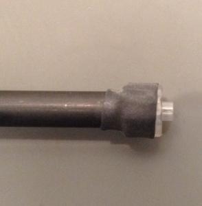 Luer lock installed