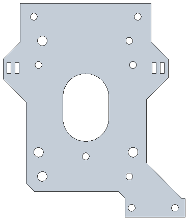 Gantry front plate